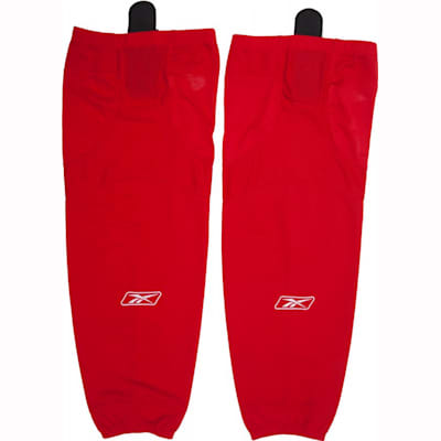 Red (Reebok SX100 Edge Solid Color Hockey Socks - Intermediate)