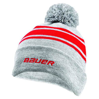 (Bauer Team Striped Pom Knit Hat - Adult)
