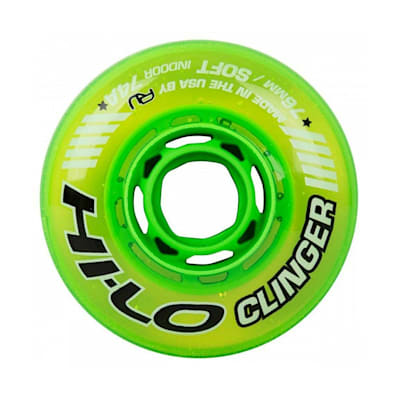 (Bauer Hi-Lo Clinger Indoor Inline Wheel - Green)
