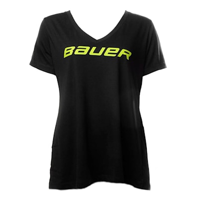Front (Bauer Core Color Pop Short Sleeve V-Neck Tee Shirt - Womens)