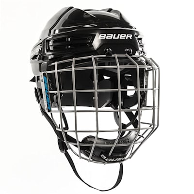 Black (Bauer S18 IMS 5.0 Hockey Helmet Combo)
