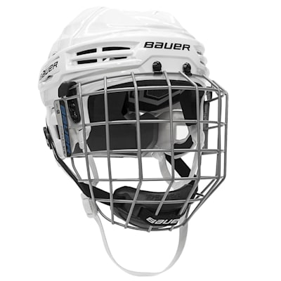 White (Bauer S18 IMS 5.0 Hockey Helmet Combo)