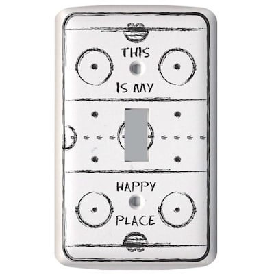 (Painted Pastimes Rink Light Switch Cover)