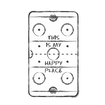 (Painted Pastimes Car Decal- Hockey Rink)