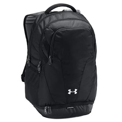 Black/Black/Silver (Under Armour Team Hustle 3.0 Hockey Backpack)