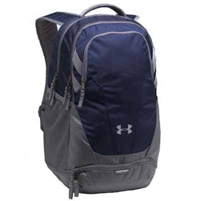 Navy/Grey/Grey (Under Armour Team Hustle 3.0 Hockey Backpack)