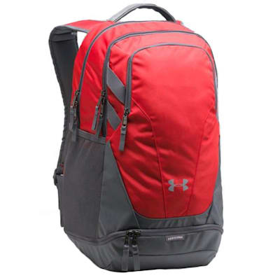 Red/Grey/Grey (Under Armour Team Hustle 3.0 Hockey Backpack)