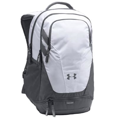 White/Grey/Grey (Under Armour Team Hustle 3.0 Hockey Backpack)