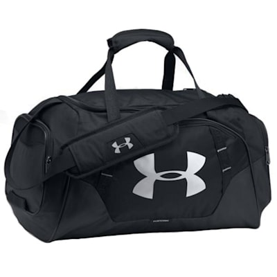 Black/Black/Silver (Under Armour Undeniable Hockey Duffle 3.0 Large)