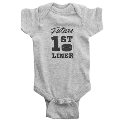 Grey (Future 1st Liner Baby Onesie - Infant)