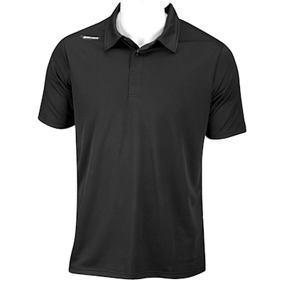 Black (Bauer Short Sleeve Sport Polo - Black - Adult)