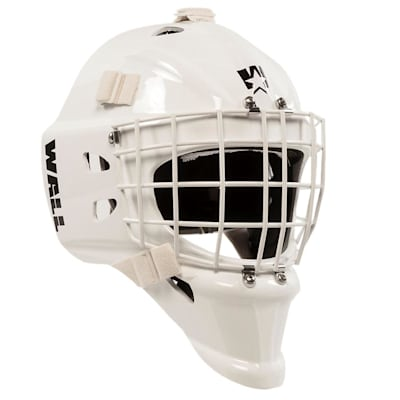 White (Wall USA W4 - Pure™ Short Chin Certified Goalie Mask - Senior)