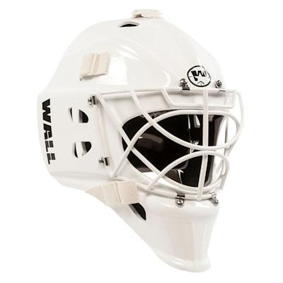 White (Wall USA W4 Pure™ Short Chin Non-Certified Goalie Mask - Senior)