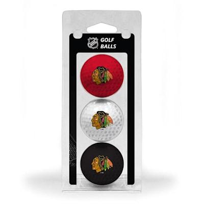 (Chicago Blackhawks Golf Ball - 3 Pack)