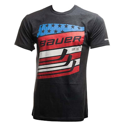 (Bauer Stars and Striped Short Sleeve Tee Shirt - Adult)