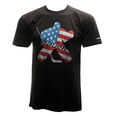 (Bauer Patriot Goalie Short Sleeve Tee Shirt - Adult)
