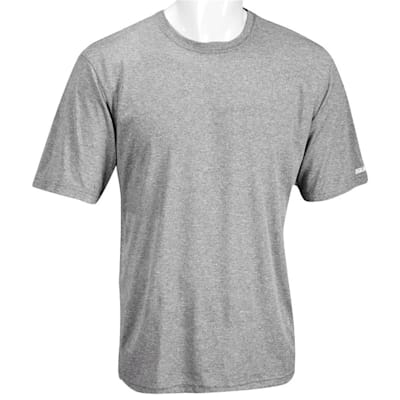Heather Grey (Bauer Team Tech Short Sleeve Tee Shirt - Adult)