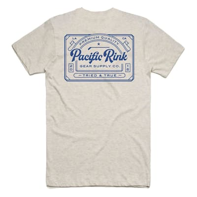 *Back Graphic Shown in Oatmeal* (Pacific Rink Tried and True Tee Shirt - Black - Adult)