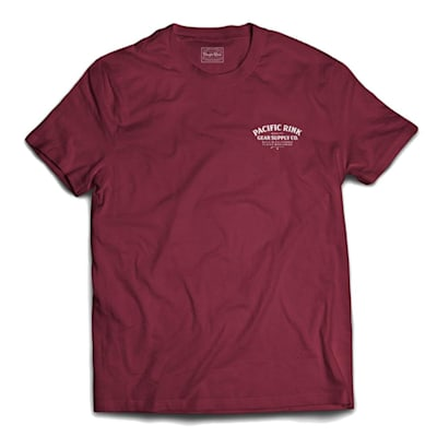 Front (Pacific Rink Heritage Tee Shirt - Maroon - Adult)