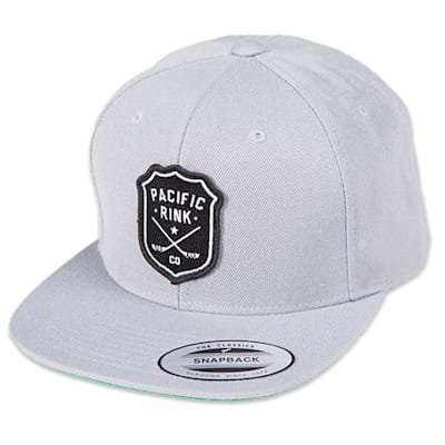 (Pacific Rink Sheriffs Snapback Cap - Silver - Adult)