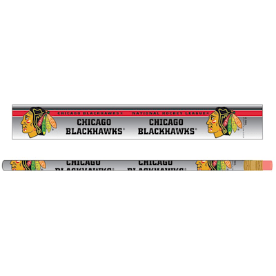 Pencils 6-Pack Blackhawks (Wincraft Chicago Blackhawks Pencils - 6 Pack)
