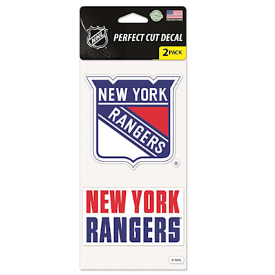 Perfect Cut Decal 2PK Rangers (Wincraft NHL Wincraft Perfect Cut Decal - New York Rangers 2 Pack)