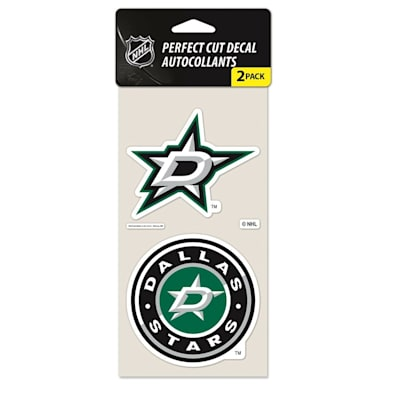 Perfect Cut Decal 2PK Stars (Wincraft NHL Wincraft Perfect Cut Decal - Dallas Stars 2 Pack)