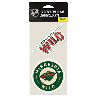 Perfect Cut Decal 2PK Wild (Wincraft NHL Wincraft Perfect Cut Decal - Minnesota Wild 2 Pack)