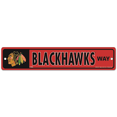 NHL Street Sign Blackhawks (Wincraft Chicago Blackhawks Street Sign)
