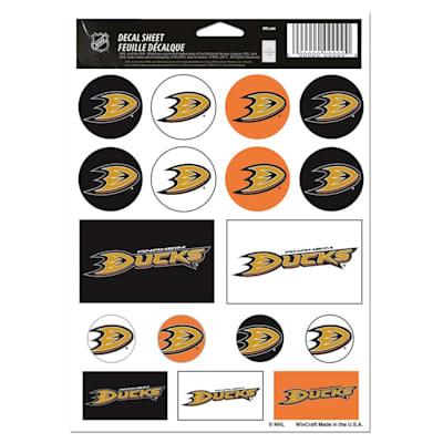 NHL Sticker Sheet 5x7 Ducks (Wincraft Vinyl Sticker Sheet - Anaheim Ducks)