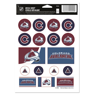 NHL Sticker Sheet 5x7 Avalanche (Wincraft Vinyl Sticker Sheet - Colorado Avalanche)