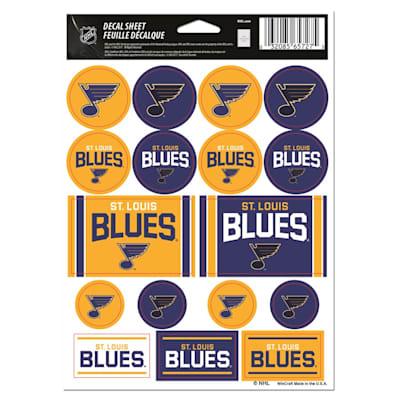 NHL Sticker Sheet 5x7 Blues (Wincraft Vinyl Sticker Sheet - St. Louis Blues)