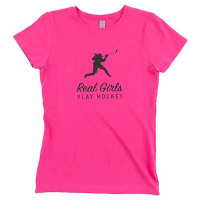 (PlusMinus Real Girls Play Hockey Tee - Girls)