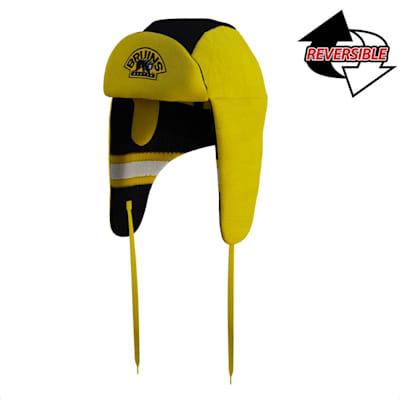 (Hockey Sockey Boston Bruins Reversible Trapper Hat - Adult)