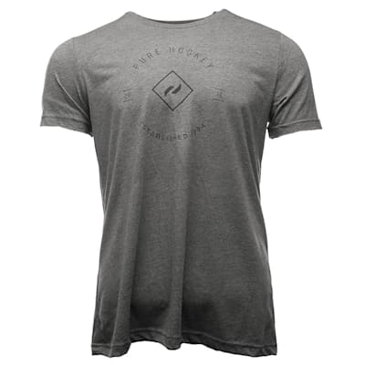 Grey (Pure Hockey Crest Tee 2.0 - Adult)