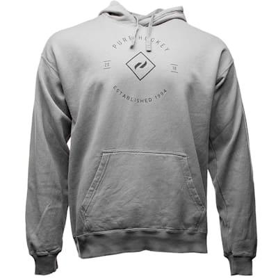 Grey (Pure Hockey Crest Hoodie 2.0 - Adult)