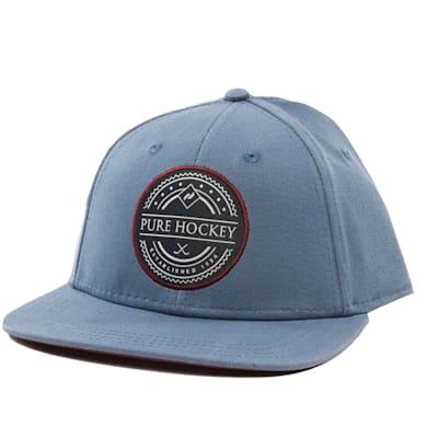 Front (Pure Hockey Slate Flat Brim Snapback Hat - Adult)
