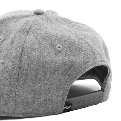 Back (Pure Hockey Heritage Grey Flat Brim Snapback Hat - Adult)