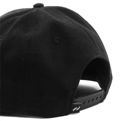 Back (Pure Hockey Black Flat Brim Snapback Hat - Adult)