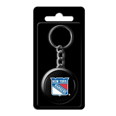 (InGlasco NHL Puck Keychain - New York Rangers)