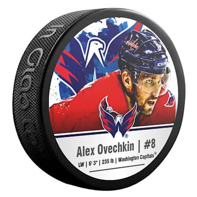 (InGlasco NHLPA Hockey Puck - Alexander Ovechkin - #8 - Washington Capitals)