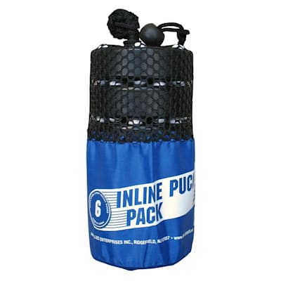 (Black Inline Pucks - 6 Pack)
