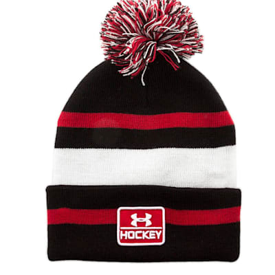 (Under Armour Hockey Pom Knit Hat - Adult)