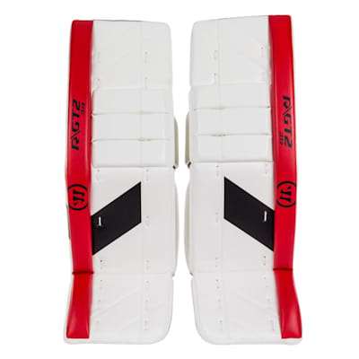 White/Black/Red (Warrior Ritual GT2 Goalie Leg Pads - Junior)