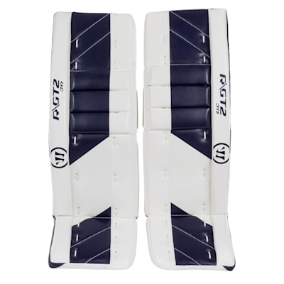 White/Navy (Warrior Ritual GT2 Goalie Leg Pads - Junior)