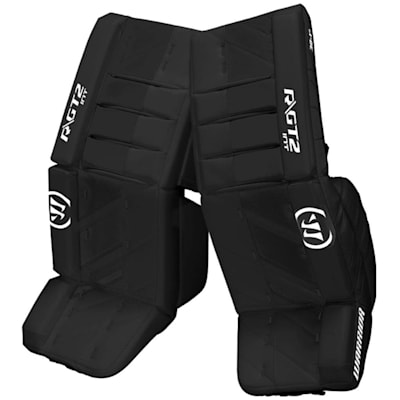Black/Black (Warrior Ritual GT2 Goalie Leg Pads - Intermediate)