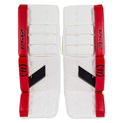 White/Black/Red (Warrior Ritual GT2 Goalie Leg Pads - Intermediate)