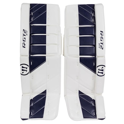 White/Navy (Warrior Ritual GT2 Goalie Leg Pads - Intermediate)
