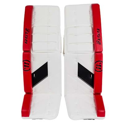 White/Black/Red (Warrior Ritual GT2 Goalie Leg Pads - Senior)