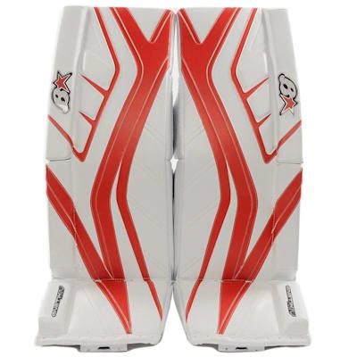 White/Red (Brians GNETiK IV Goalie Leg Pads - Senior)